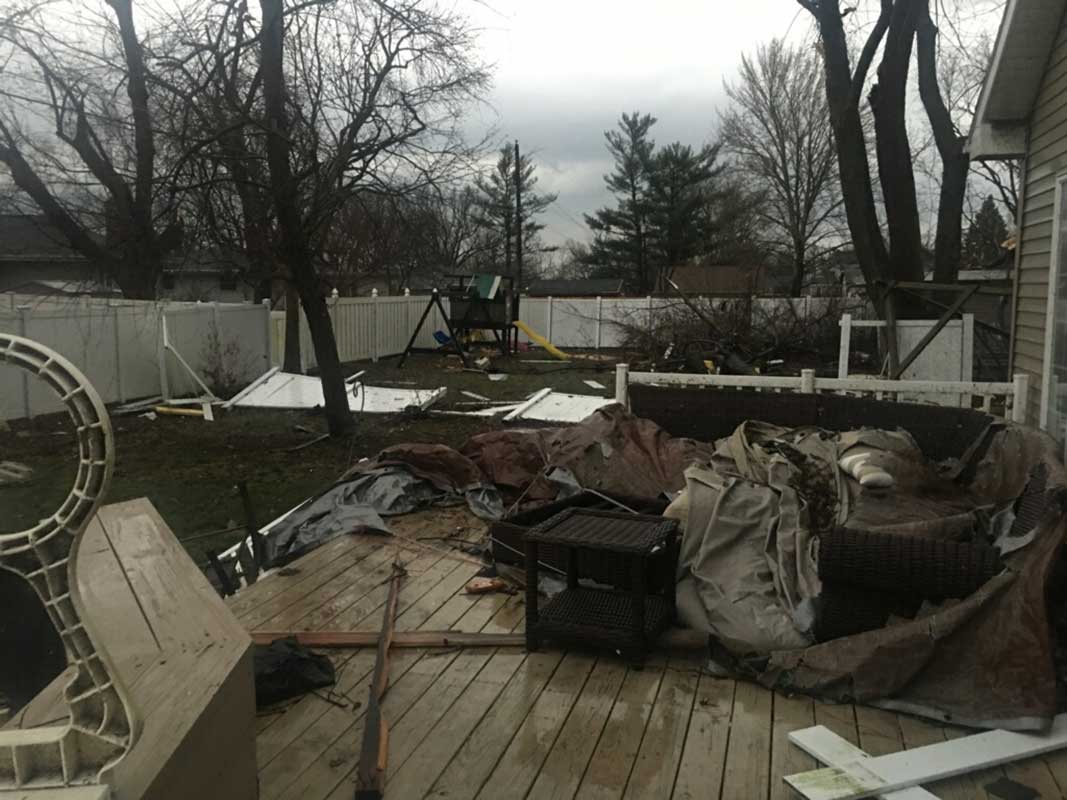 <div class='meta'><div class='origin-logo' data-origin='WLS'></div><span class='caption-text' data-credit='Credit: Ashley Nevins'>Tornado damage in Ottawa on Feb. 28, 2017.</span></div>
