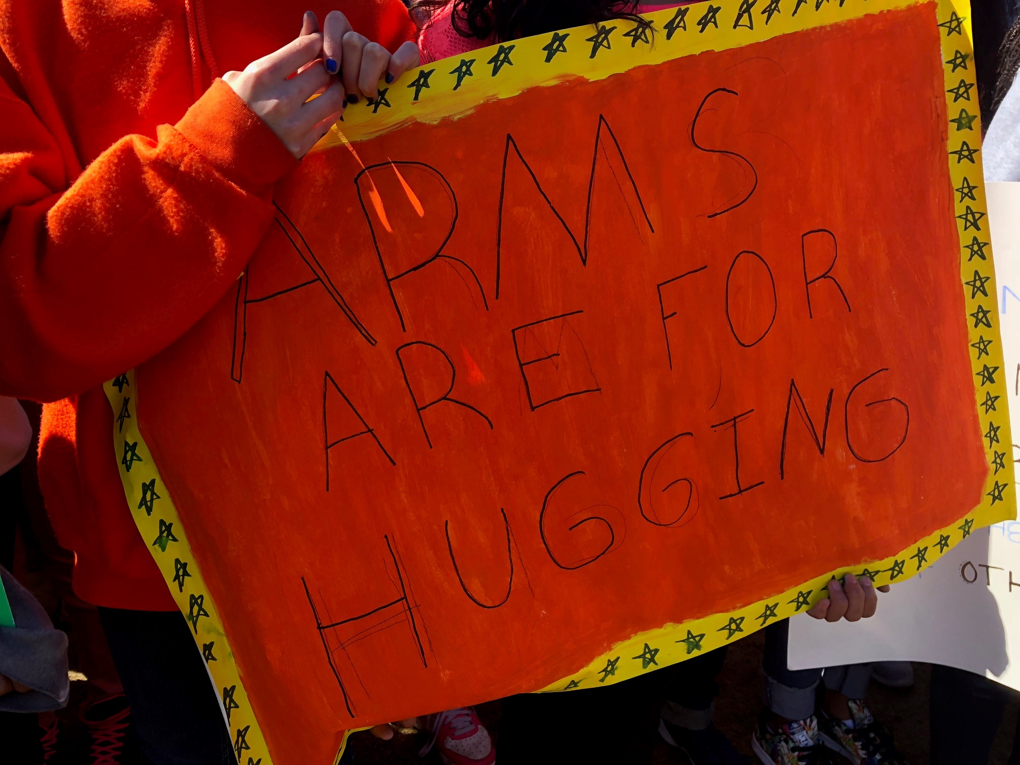 <div class='meta'><div class='origin-logo' data-origin='WLS'></div><span class='caption-text' data-credit=''>A Chicago student holds a sign during a walkout to protest gun violence on the anniversary of the Columbine shooting.</span></div>