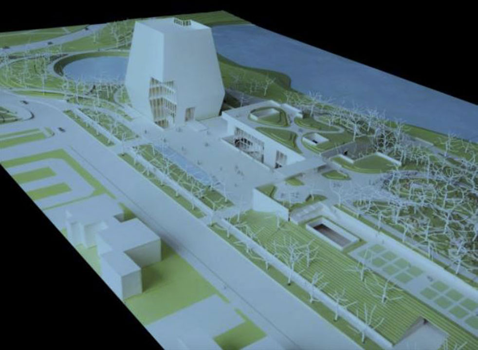 <div class='meta'><div class='origin-logo' data-origin='WLS'></div><span class='caption-text' data-credit='Obama Foundation'>Conceptual model of the Obama Presidential Center. Released on May 3, 2017.</span></div>
