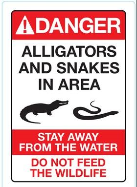 """<div class=""""meta image-caption""""><div class=""""origin-logo origin-image none""""><span>none</span></div><span class=""""caption-text"""">A sign warning guests of gator that was put up along the beaches at Disney resorts on Friday.  (Walt Disney World )</span></div>"""
