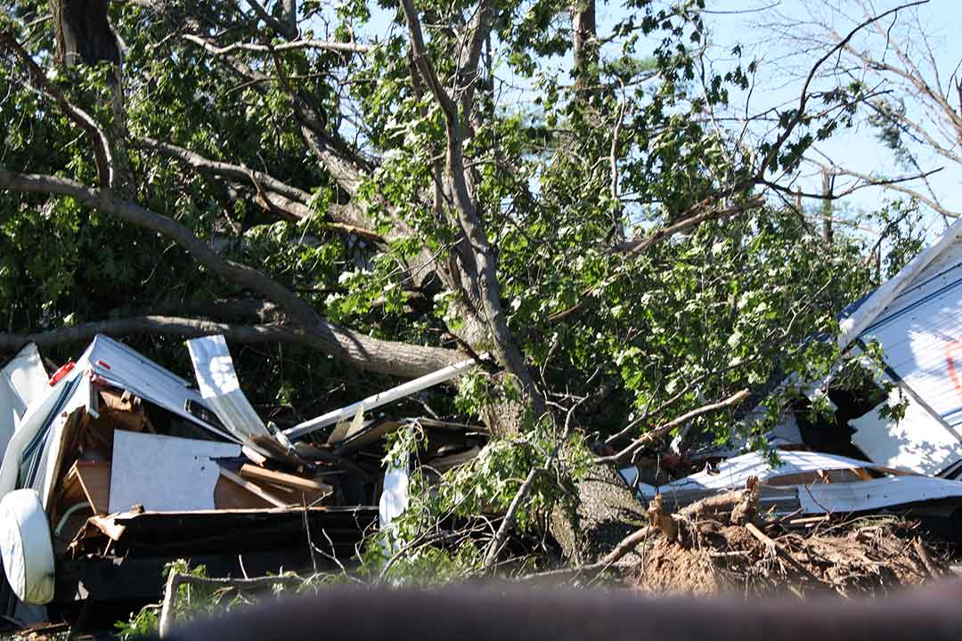 <div class='meta'><div class='origin-logo' data-origin='WLS'></div><span class='caption-text' data-credit='Jennifer Thompson'>Tornado damage in Sublette, Ill., the day after the storms.</span></div>