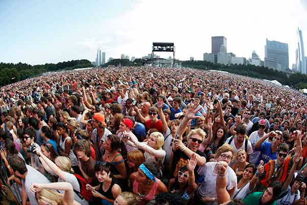 Fans listen to the Black Keys at Lollapalooza 2010. <span class=meta>AP Photo/BRIAN KERSEY</span>