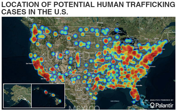 Human Trafficking How US States Fare BBC News Sex Trafficking