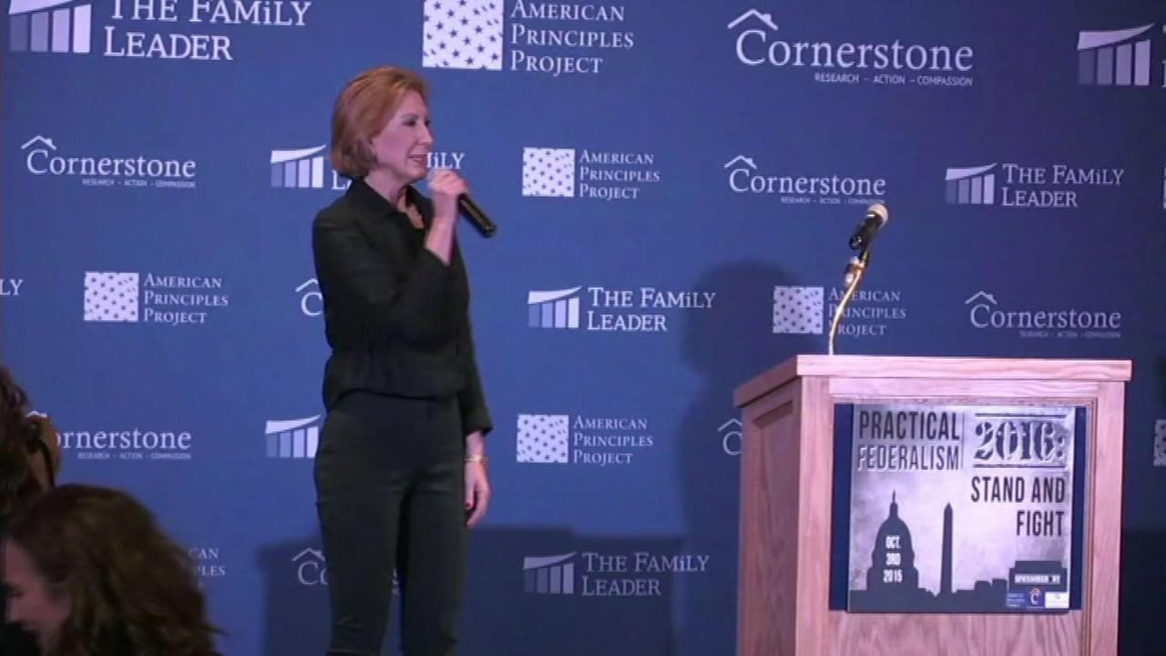 Republican presidential candidate Carly Fiorina.