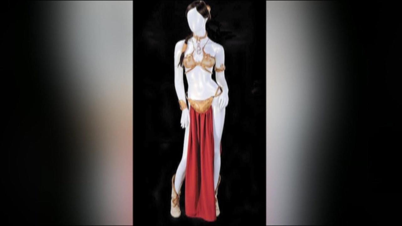 The iconic bikini worn by Princess Leia in Return of the Jedi sold for a whopping $96,000 at auction Friday.