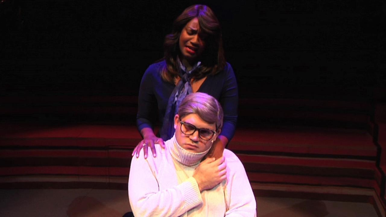 A new musical following the love story of famed film critic Roger Ebert and his wife, Chaz, premiered Sunday night in Chicago.