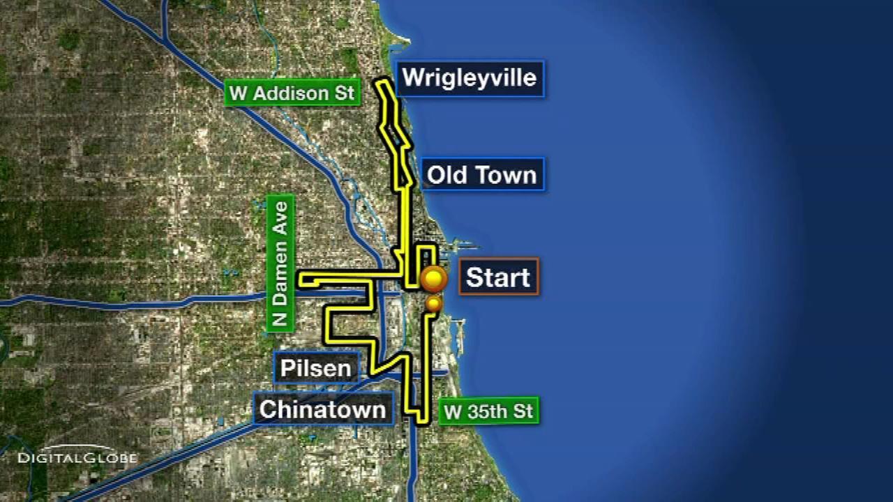 Chicago Marathon  Street Closures Chicago Association Of - Chicago marathon map 2016