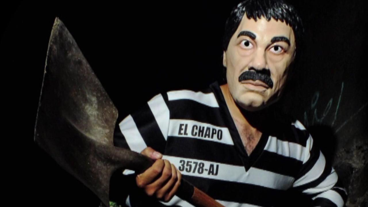 A Mexican company designed an El Chapo costume in the image of Mexico and Americas most wanted man.