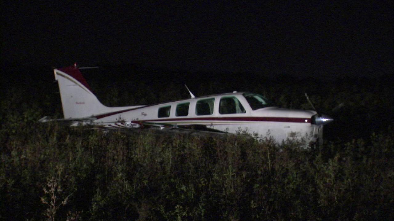 A small plane made an emergency landing near DuPage Airport in the far western suburbs Sunday afternoon.