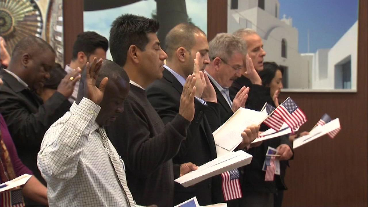 More than 50 new Americans celebrated their citizenship at the National Hellenic Museum on South Halsted.