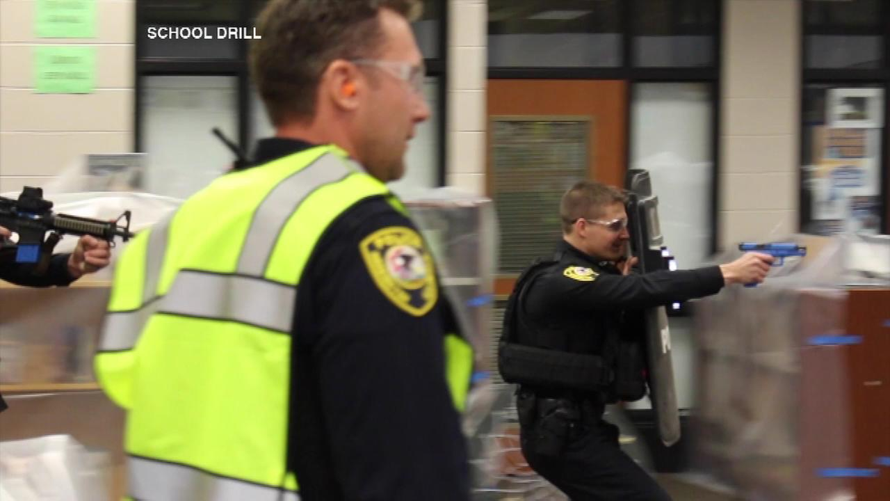 An active shooter training was held Friday morning at Station Middle School in Barrington.