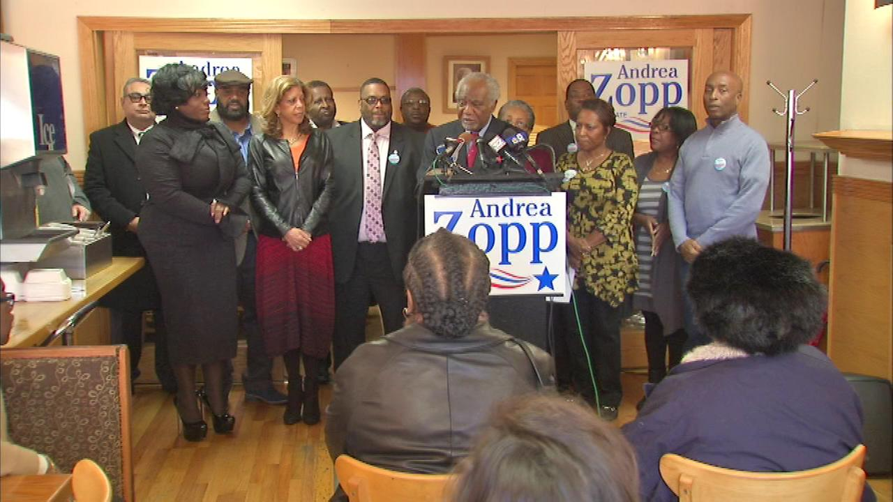 Democratic Senate candidate Andrea Zopp picked up a major endorsement Sunday.