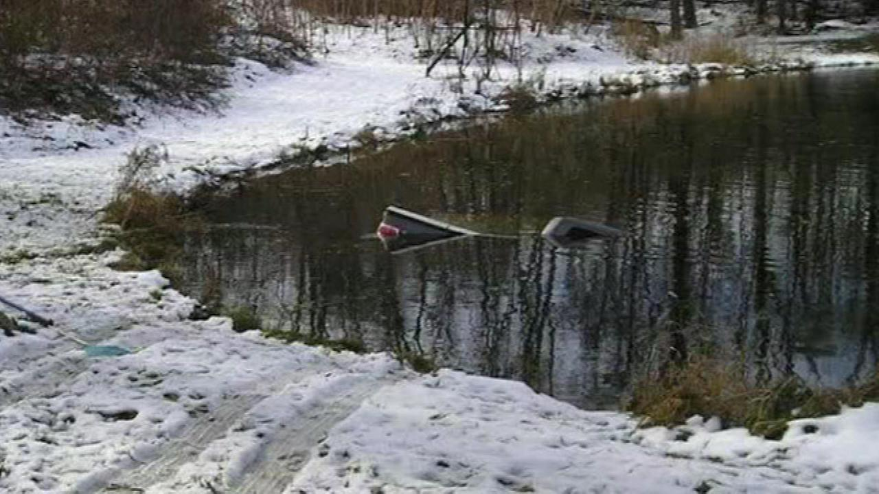 A 89-year-old mother-in-law ended up in a Porter County pond.