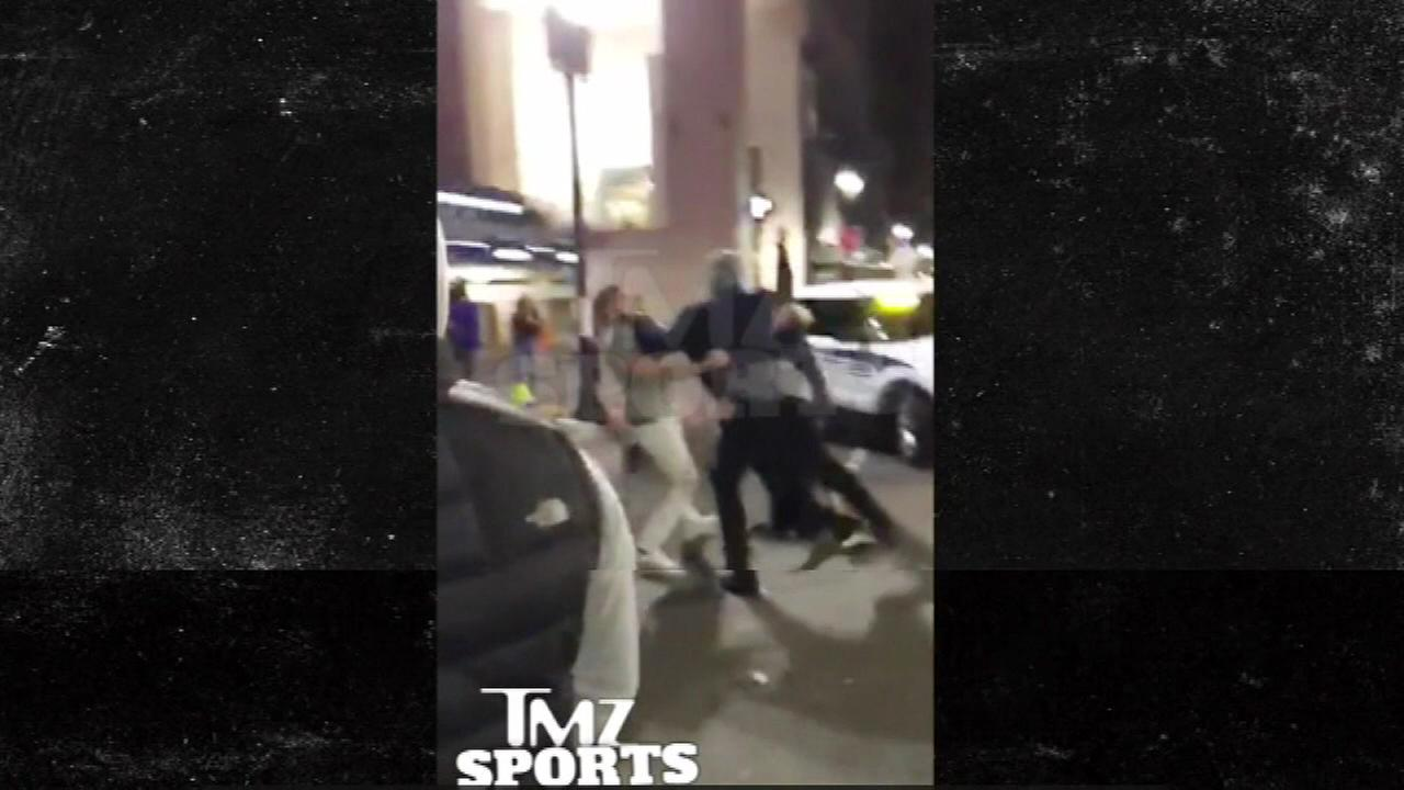 Jahlil Okafor was allegedly captured on video during a street fight in Boston.