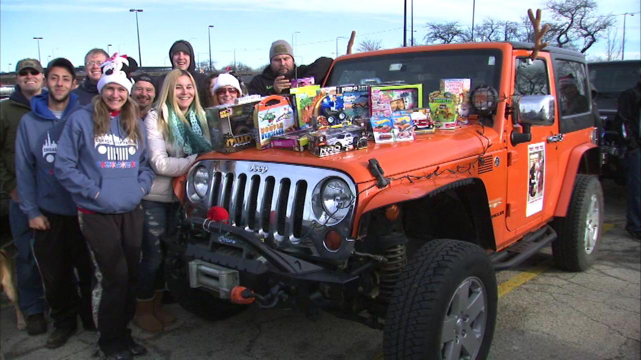 Jeep lovers are helping local kids have a happier holiday season when they gathered Sunday in the McCormick Place parking lot.