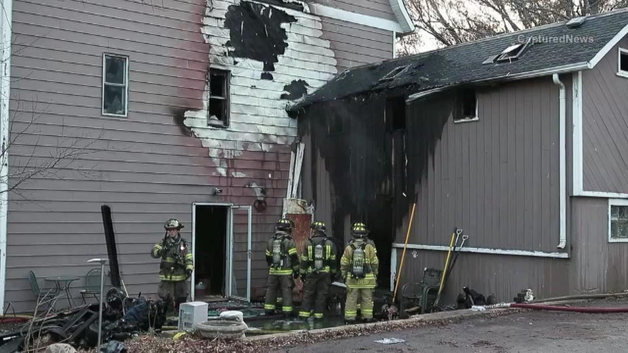 A turkey fryer was blamed for a fire that destroyed a home in McHenry County.