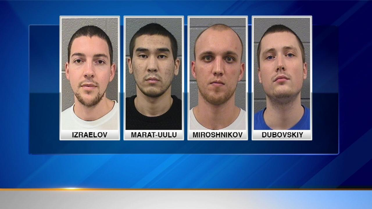 Four men from New York have been charged in a skimming operation in north suburban Skokie.