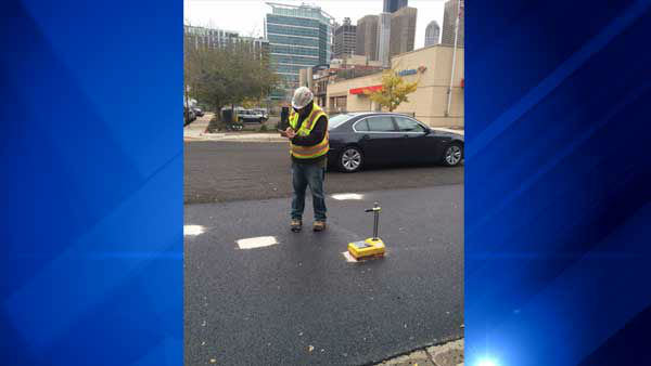 """<div class=""""meta image-caption""""><div class=""""origin-logo origin-image """"><span></span></div><span class=""""caption-text"""">The city is racing to repave long stretches of arterial streets in Chicago to fix potholes before winter arrives in full force. (WLS Photo/ Jessica D'Onofrio)</span></div>"""