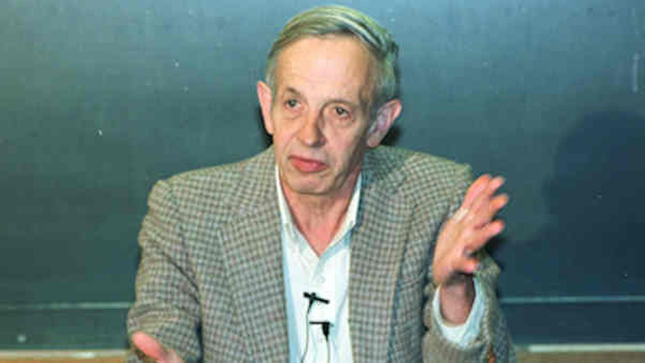 John Nash, Nobel Prize-winning mathemetician whose life was chronicled in the biography and movie A Beautiful Mind, died in a car crash along with his wife in New York City