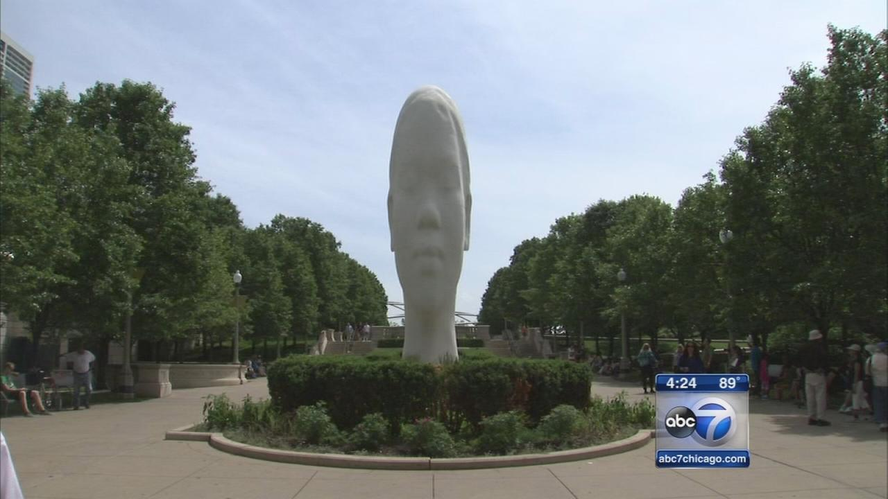 New sculptures dedicated in Millennium Park