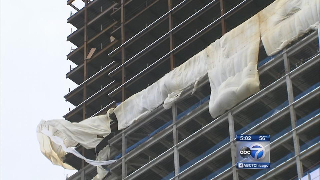Wind damage cleanup underway