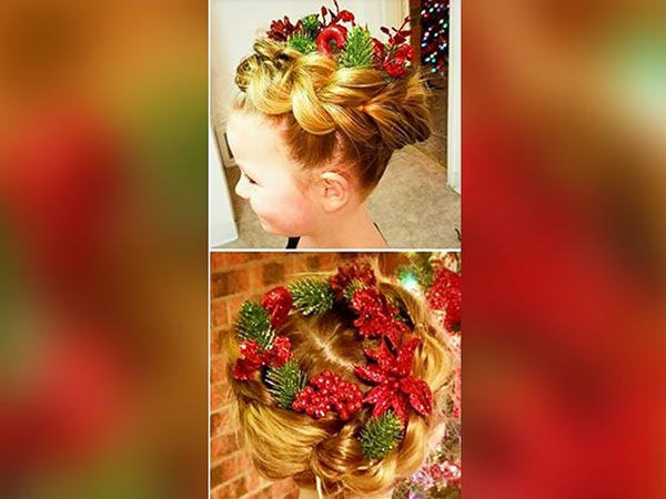 """<div class=""""meta image-caption""""><div class=""""origin-logo origin-image none""""><span>none</span></div><span class=""""caption-text"""">Greg Wickherst styles his daughter Izzy's hair for Christmas. This is the Wreath design. (Greg Wickherst)</span></div>"""