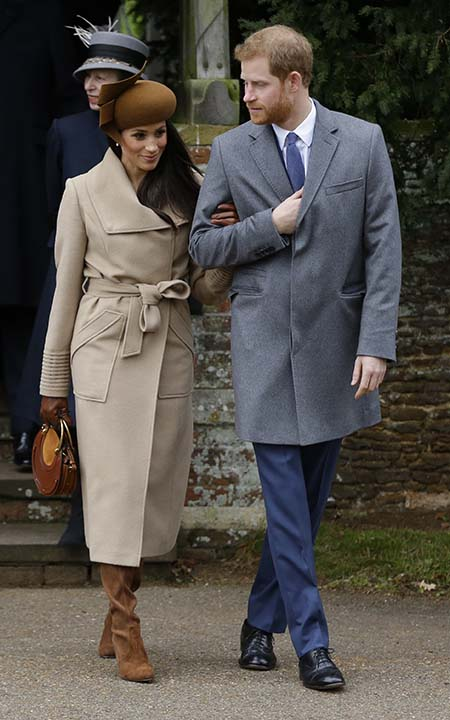 """<div class=""""meta image-caption""""><div class=""""origin-logo origin-image ap""""><span>AP</span></div><span class=""""caption-text"""">Meghan Markle and Prince Harry greet well wishers following the traditional Christmas Day church service, at St. Mary Magdalene Church in Sandringham, England on Dec. 25, 2017.  (AP Photo/Alastair Grant)</span></div>"""