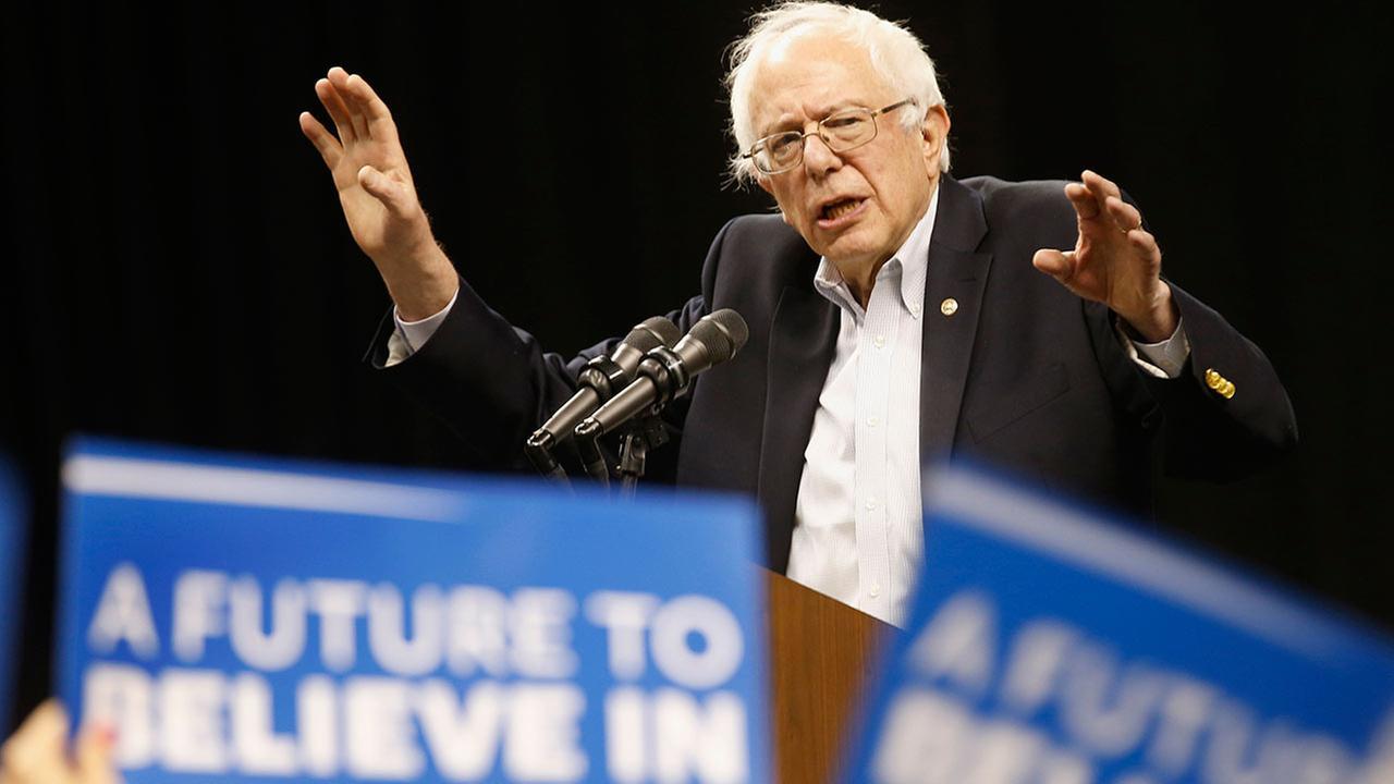 Democratic presidential candidate, Sen. Bernie Sanders, I-Vt. speaks during a rally in Norfolk, Va. on Feb. 23, 2016.