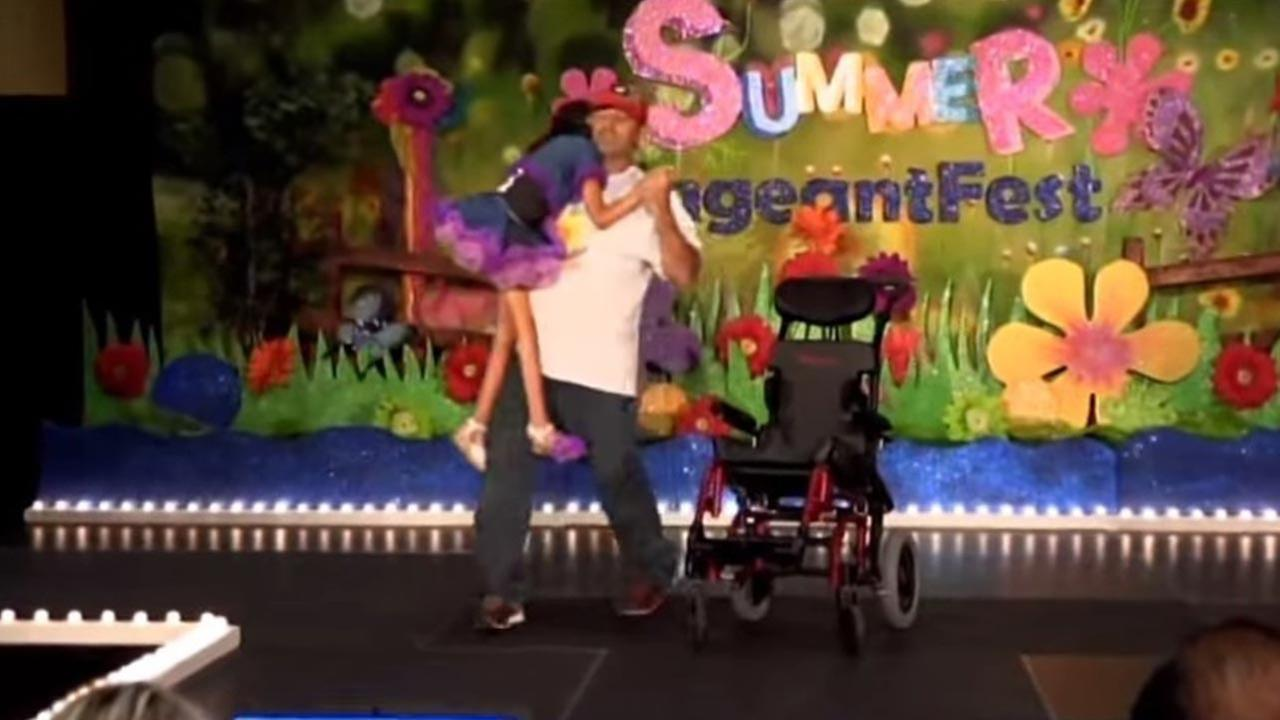 Dad enters disabled daughter in beauty pageant, video goes viral