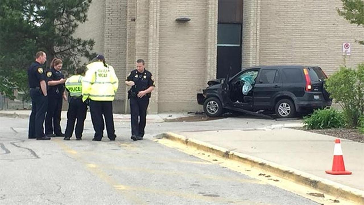 Driver dies after crashing into Barrington school