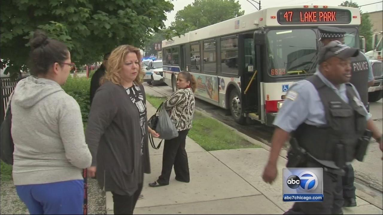 Officials: CTA rider grazed by bullet on 47th Street bus