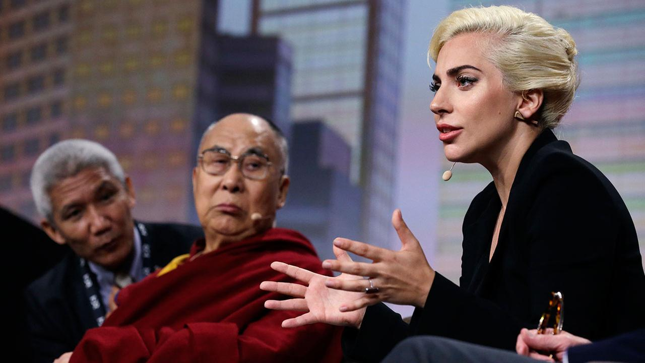 Dalai Lama, Lady Gaga talk of kindness at mayors conference