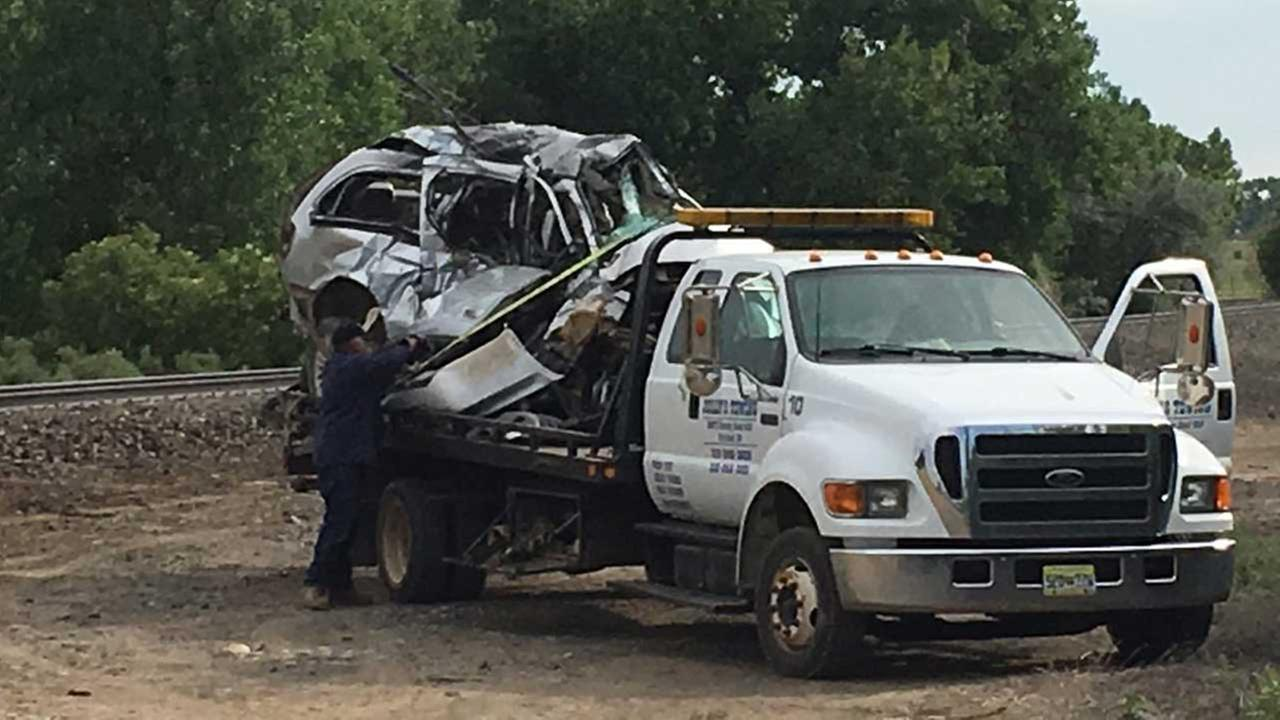 Train hits van in Colorado killing 5, including 3 children
