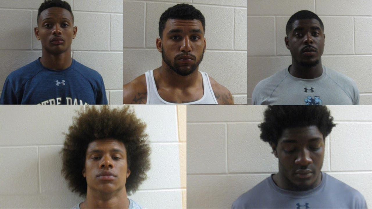 Notre Dame football players arrested on drug, gun charges