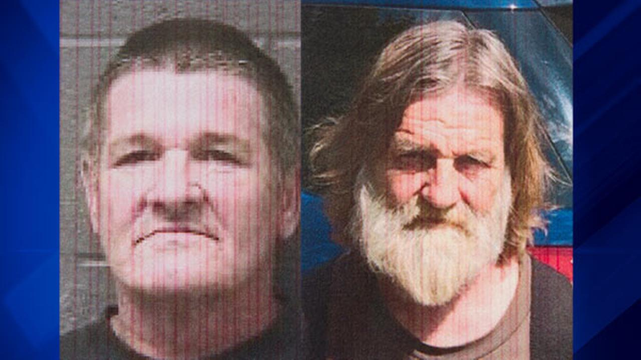 William Lloyd Harbour (L) and Larry Don Patterson (R), who were arrested by authorities in Oklahoma on Sept. 13, 2016, on charges related to the 1973 slayings of two girls.