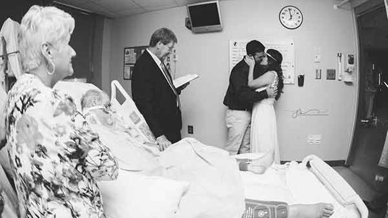 Candice Hammonds wedding took place in the middle of an ICU hospital room. She wanted her dying father to witness the next chapter of her life.Courtesy Julie Schandolph Photogaphy