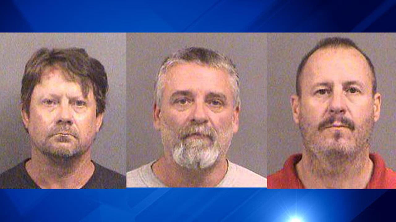 Patrick Stein (left), Gavin Wright (center) and Curtis Allen (right), are Kansas militia members charged with plotting to bomb an apartment building filled with Somali immigrants.