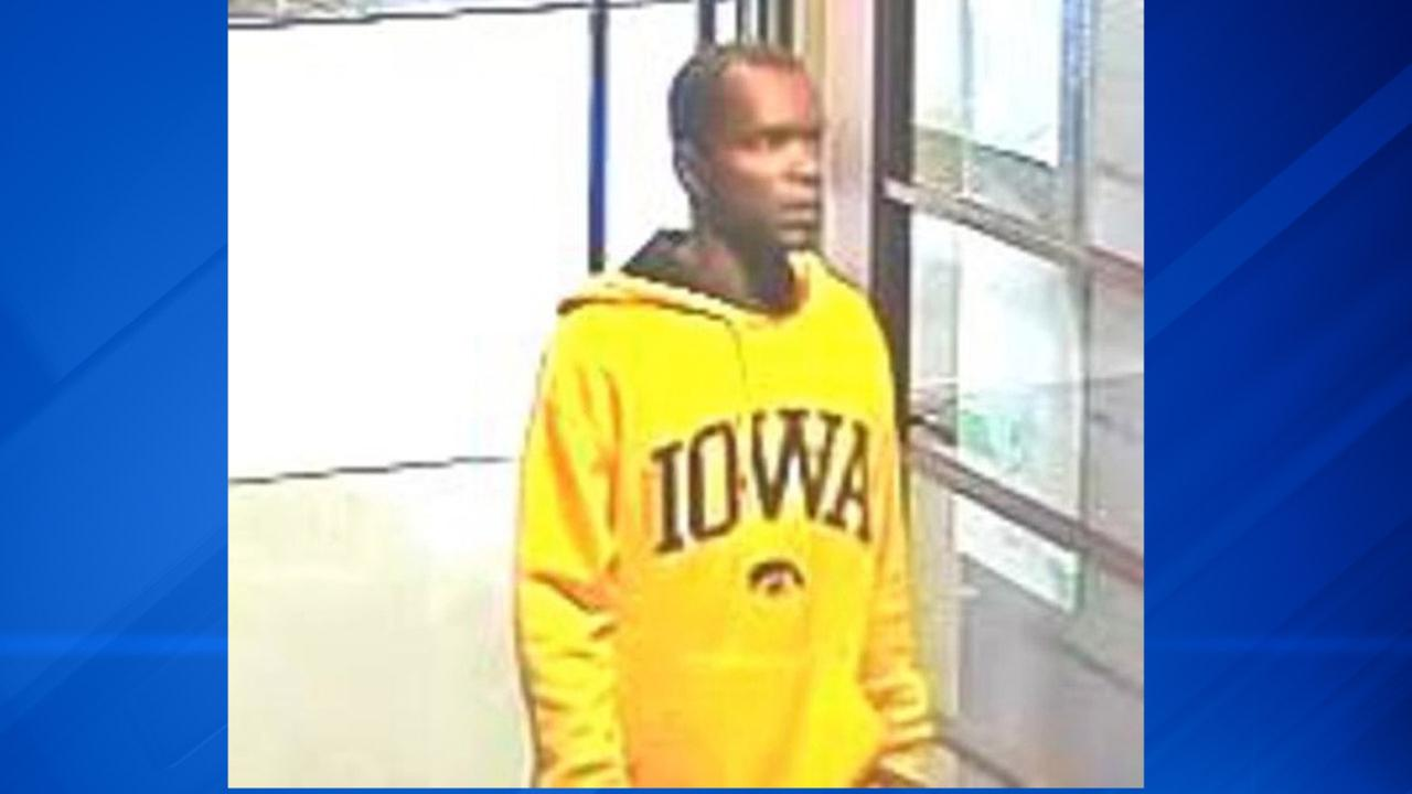 Surveillance photo of the suspect who robbed a Loop bank Wednesday morning.