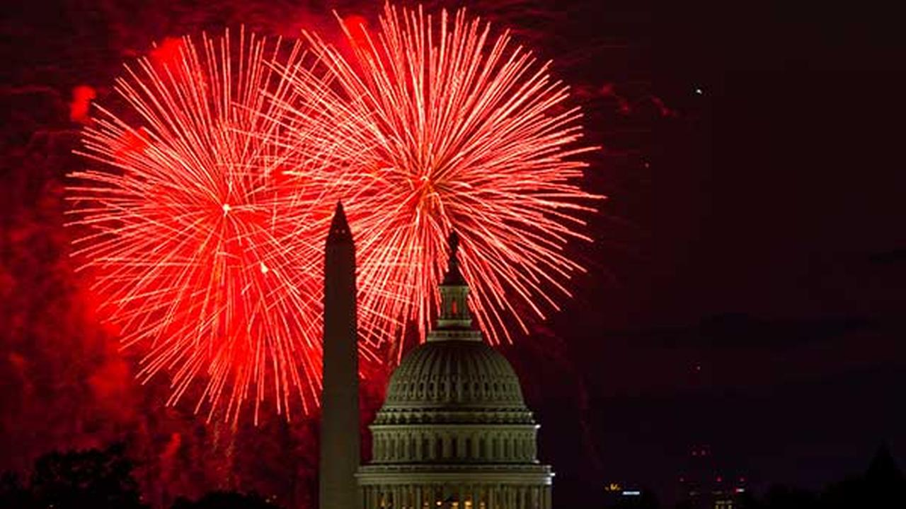 Fireworks illuminate the sky over the U.S. Capitol building and the Washington Monument during Fourth of July celebrations, on July 4, 2014, in Washington.