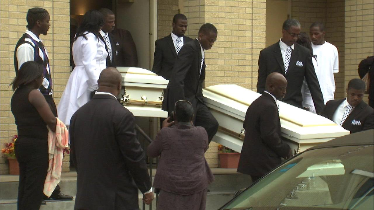 A funeral was held Saturday, July 5, 2014, for 8-year-old Terrion and 9-year-old Donel Smith.   The boys drowned last month while playing in a water filled pit in nearby Hobart.
