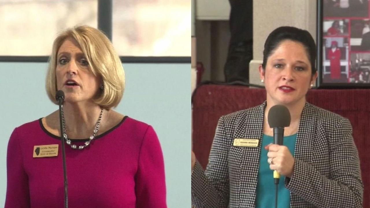 Leslie Munger and Susana Mendoza