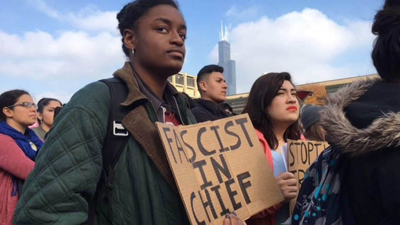 Students protest at UIC