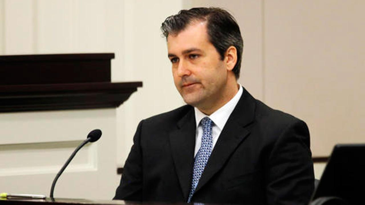 Former North Charleston police officer Michael Slager, testifies in his murder trial at the Charleston County court in Charleston, S.C.