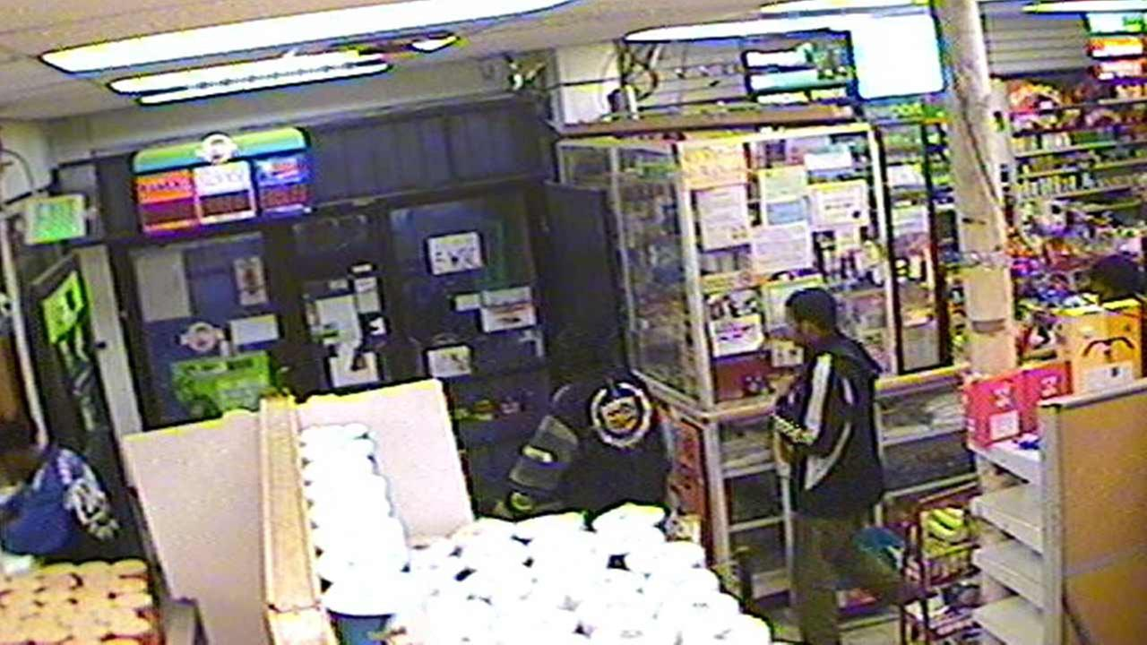 Image from the surveillance system for the business the victim had just left Nov. 18 in the 2200 block of West 11th Avenue in Gary,