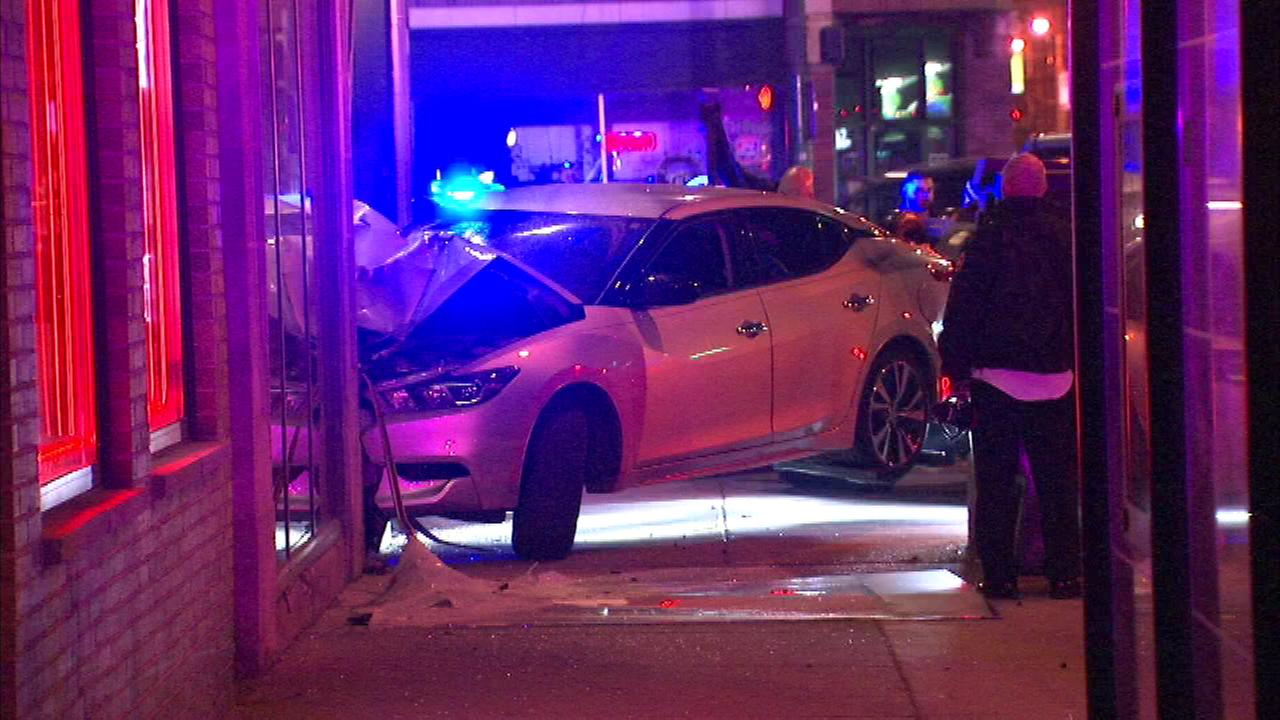 The crash occurred at about 3:45 a.m. near North Western and West Fullerton avenues.