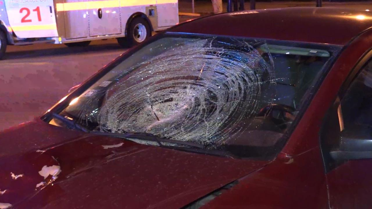 A man was struck by a vehicle early Sunday on South Cicero Avenue near South Archer Avenue.