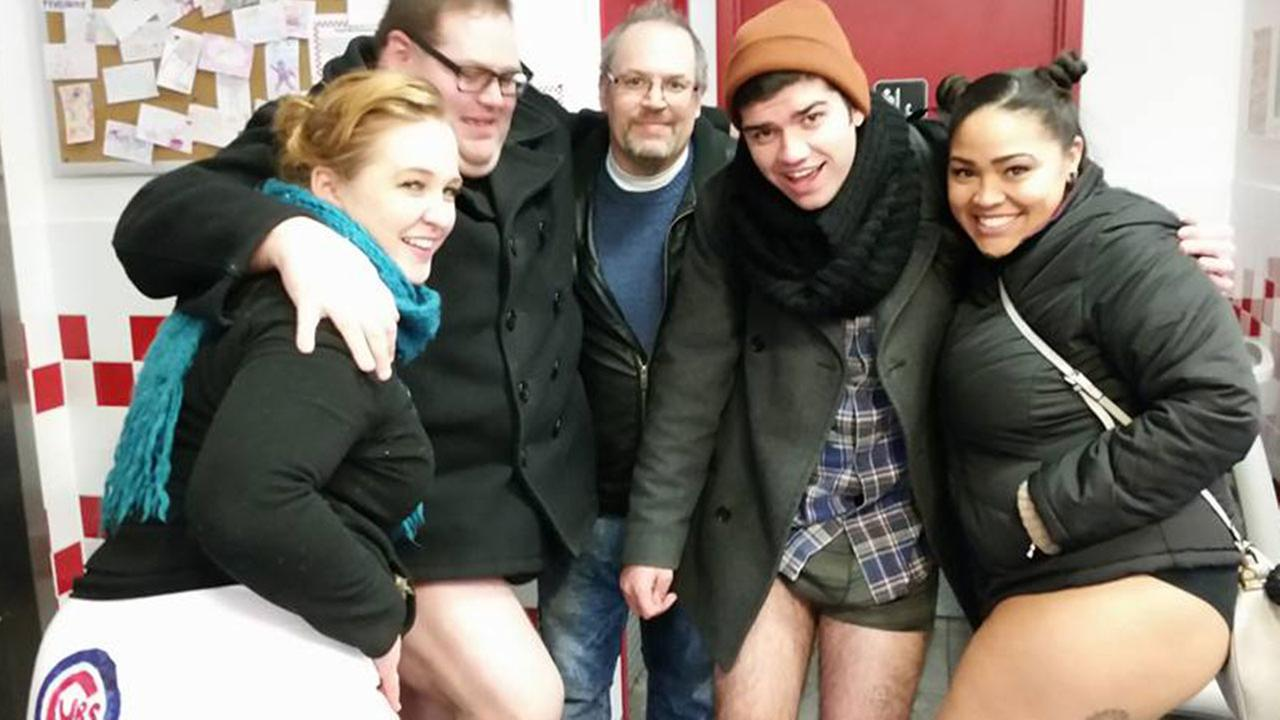 Annual No Pants Subway Ride hits ChicagoSteven Preston/Facebook