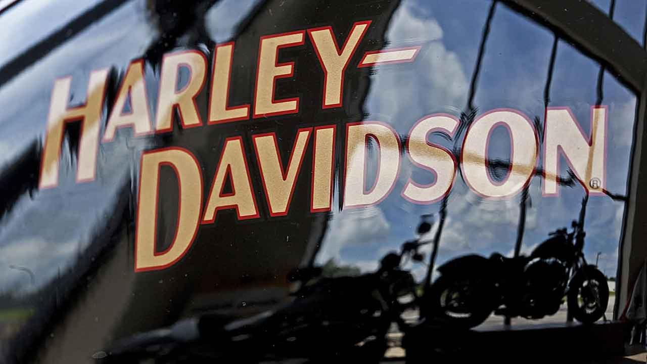 (FILE) The Hardley-Davidson logo.
