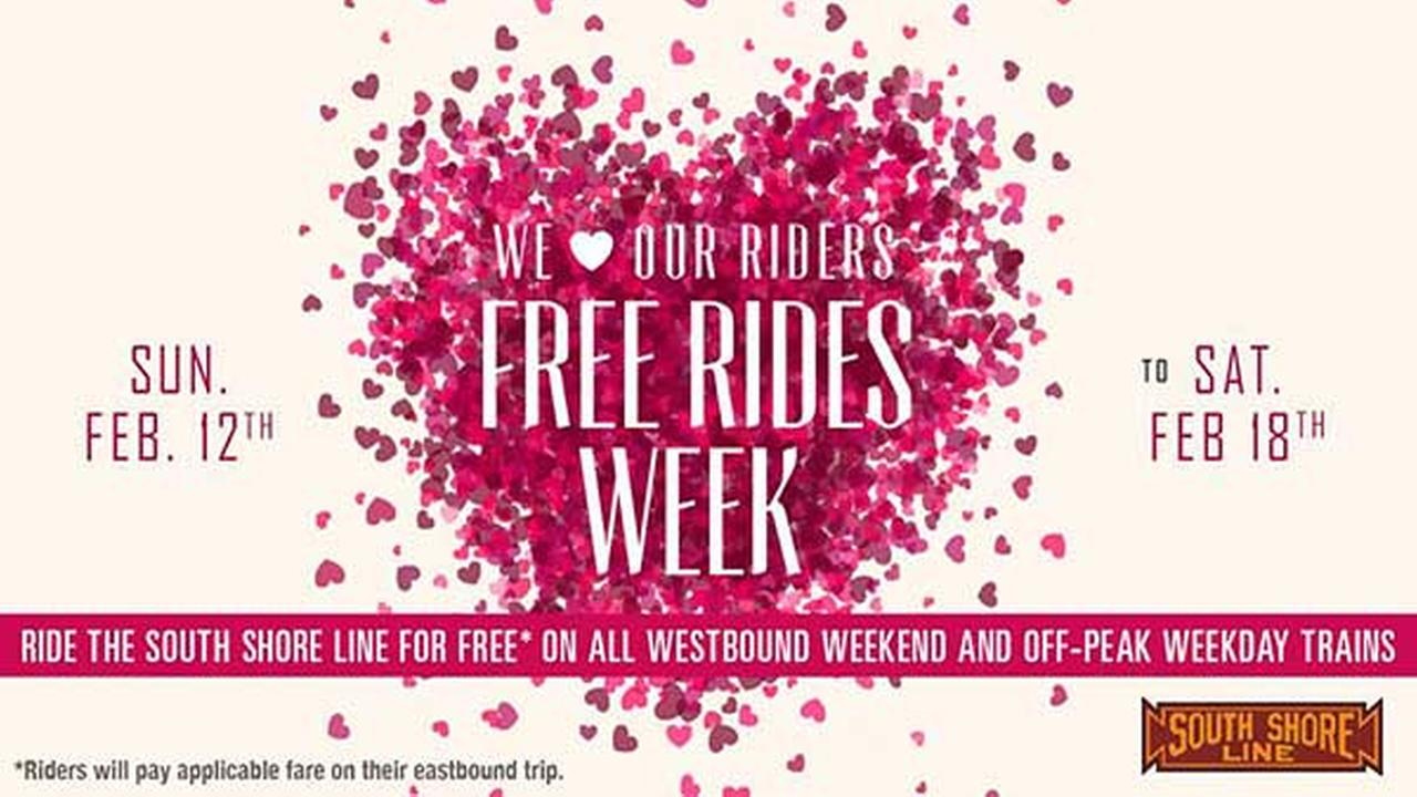 South Shore Line offering Westbound free ride promotion February 12-18, 2017