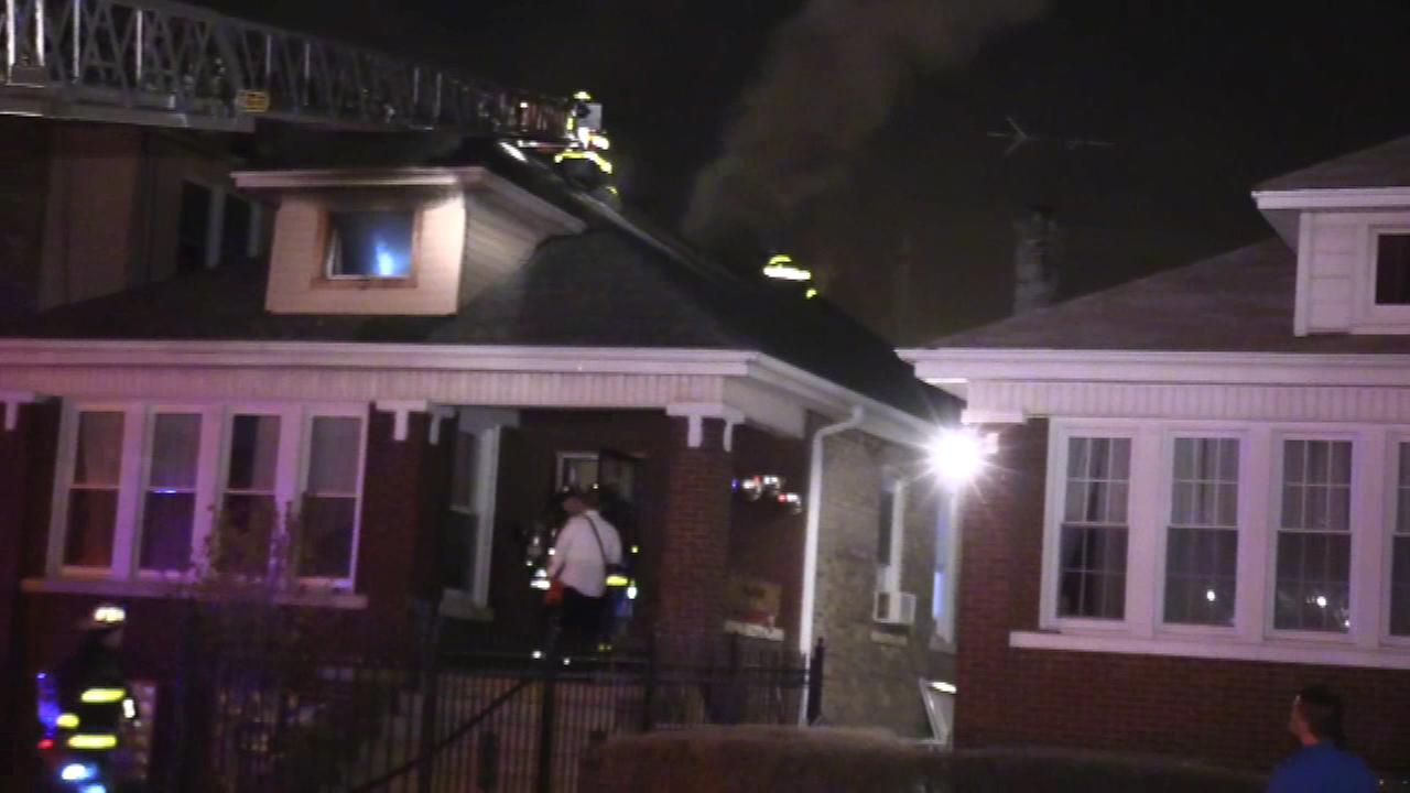 The Chicago Fire Department on the scene of a fatal fire in the Albany Park neighborhood.